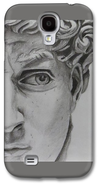 Statue Portrait Drawings Galaxy S4 Cases - David Galaxy S4 Case by Jody Sahaydak