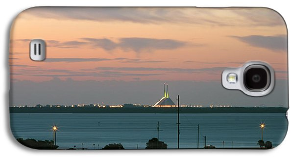 Sunshine Skyway Bridge Galaxy S4 Cases - Dawn at the Sunshine Skyway bridge viewed from tierra verde florida Galaxy S4 Case by Mal Bray