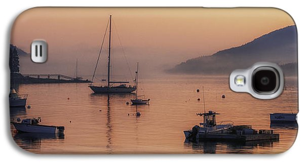 Sailboats At The Dock Galaxy S4 Cases - Dawn of a New Day on Mt. Desert Island  Galaxy S4 Case by Thomas Schoeller