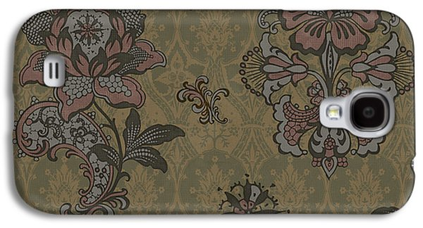 Quilt Galaxy S4 Cases - Deco Flower Brown Galaxy S4 Case by JQ Licensing