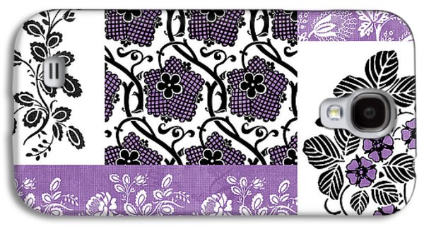 Quilt Galaxy S4 Cases - Deco Flower Patchwork 3 Galaxy S4 Case by JQ Licensing