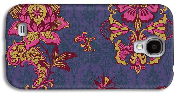 Quilt Galaxy S4 Cases - Deco Flower Purple Galaxy S4 Case by JQ Licensing