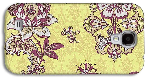 Quilt Galaxy S4 Cases - Deco Flower Yellow Galaxy S4 Case by JQ Licensing