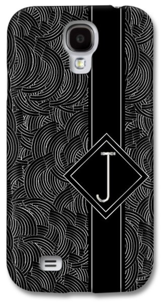 Jeremy Galaxy S4 Cases - Deco Jazz Swing Monogram ...letter J Galaxy S4 Case by Cecely Bloom