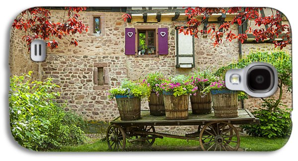 Decorated Cart Of Riquewihr, Alsace,france 072476 Galaxy S4 Case by Marco Arduino