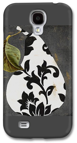 Pears Paintings Galaxy S4 Cases - Decorative Damask Pear I Galaxy S4 Case by Mindy Sommers