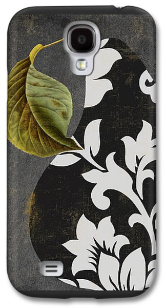 Pears Paintings Galaxy S4 Cases - Decorative Damask Pear II Galaxy S4 Case by Mindy Sommers