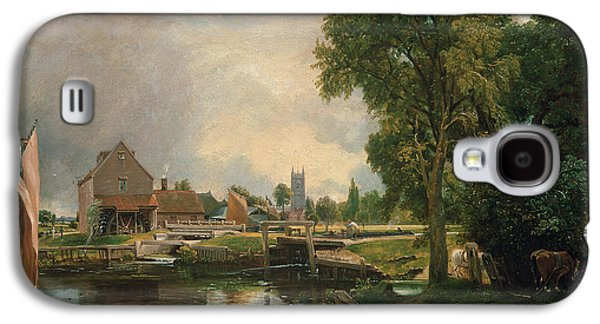 Animals Paintings Galaxy S4 Cases - Dedham Lock and Mill Galaxy S4 Case by John Constable