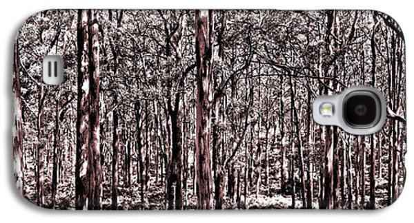Nature Scene Galaxy S4 Cases - Deep Forest Sepia Galaxy S4 Case by Az Jackson