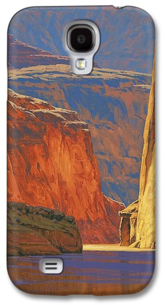 Landscapes Paintings Galaxy S4 Cases - Deep in the Canyon Galaxy S4 Case by Cody DeLong