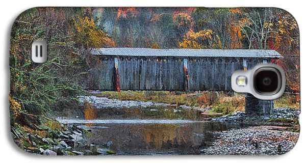 Covered Bridge Paintings Galaxy S4 Cases - Deep In The Catskills Galaxy S4 Case by Deborah Benoit