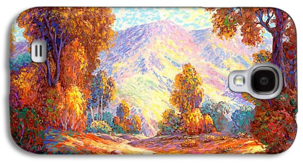Wilderness Paintings Galaxy S4 Cases - Radiant Peace Galaxy S4 Case by Jane Small