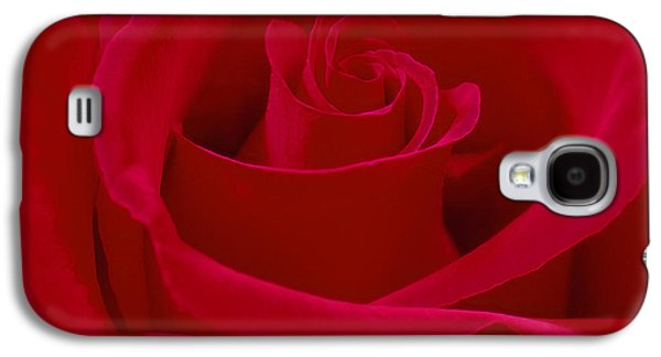 """square Art"" Digital Art Galaxy S4 Cases - Deep Red Rose Galaxy S4 Case by Mike McGlothlen"