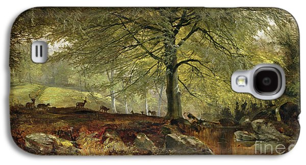 Stream Galaxy S4 Cases - Deer in a Wood Galaxy S4 Case by Joseph Adam