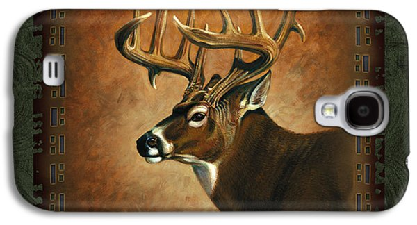 Antiques Paintings Galaxy S4 Cases - Deer Lodge Galaxy S4 Case by JQ Licensing