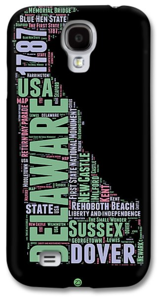 4th July Galaxy S4 Cases - Delaware Word Cloud 1 Galaxy S4 Case by Naxart Studio