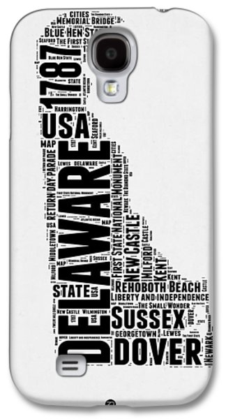 4th July Mixed Media Galaxy S4 Cases - Delaware Word Cloud 2 Galaxy S4 Case by Naxart Studio