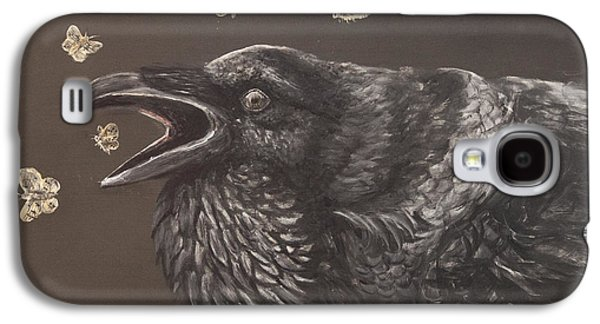 Caws Paintings Galaxy S4 Cases - Delectible Melodies Galaxy S4 Case by Kija  Elstad