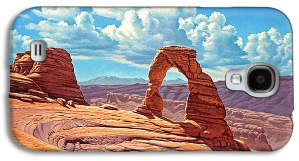 National Park Paintings Galaxy S4 Cases - Delicate Arch Galaxy S4 Case by Paul Krapf