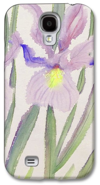 """""""indoor"""" Still Life Paintings Galaxy S4 Cases - Delicate Purple Iris Galaxy S4 Case by Sharon Nelson-Bianco"""