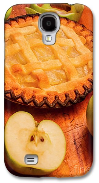 Delicious Apple Pie With Fresh Apples On Table Galaxy S4 Case by Jorgo Photography - Wall Art Gallery