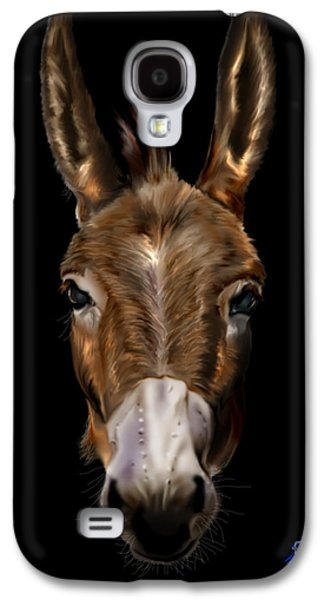 Democrat Paintings Galaxy S4 Cases - Dem-Donkey Galaxy S4 Case by Reggie Duffie