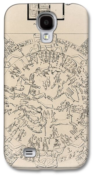 Relief Sculpture Galaxy S4 Cases - Dendera Zodiac From The Temple Of Hathor Galaxy S4 Case by Humanities And Social Sciences Libraryasian And Middle Eastern Division