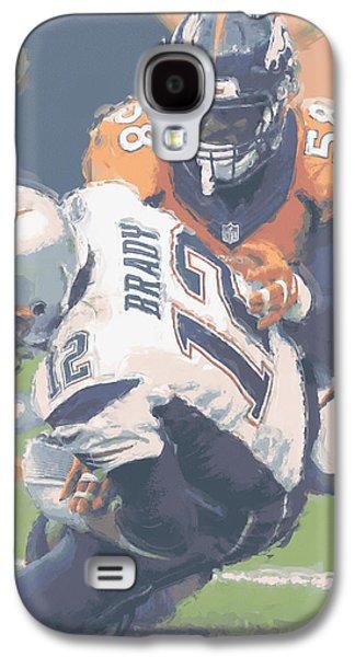 Denver Broncos Von Miller 2 Galaxy S4 Case by Joe Hamilton