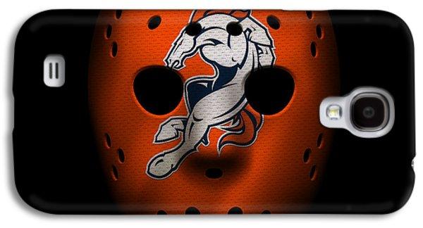 Denver Broncos War Mask 2 Galaxy S4 Case by Joe Hamilton