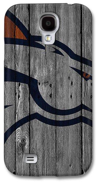 Denver Broncos Wood Fence Galaxy S4 Case by Joe Hamilton