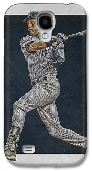 Derek Jeter New York Yankees Art 2 Galaxy S4 Case by Joe Hamilton