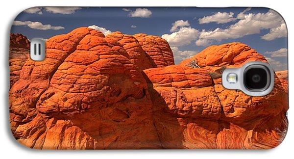 Surreal Landscape Galaxy S4 Cases - Desert Brain Rocks Galaxy S4 Case by Adam Jewell
