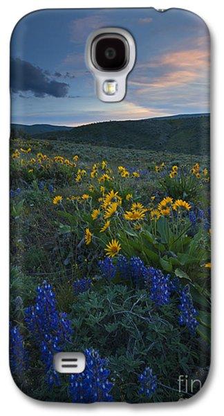 Yakima Valley Galaxy S4 Cases - Desert Wildflower Sunset Galaxy S4 Case by Mike Dawson