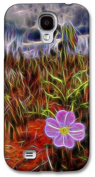 Blue Abstracts Galaxy S4 Cases - Desert Wildflower Galaxy S4 Case by William Horden