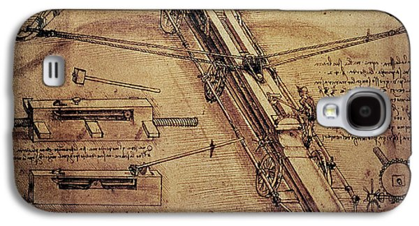 Design For A Giant Crossbow Galaxy S4 Case by Leonardo Da Vinci