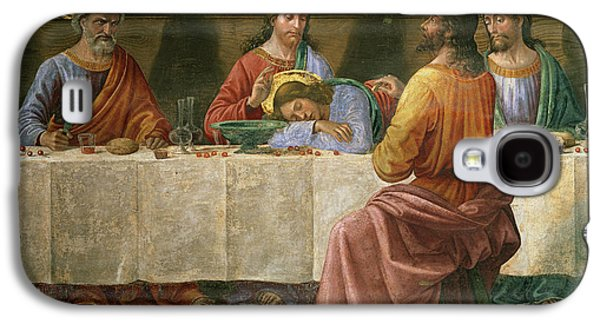 Italian Wine Paintings Galaxy S4 Cases - Detail from the Last Supper Galaxy S4 Case by Domenico Ghirlandaio
