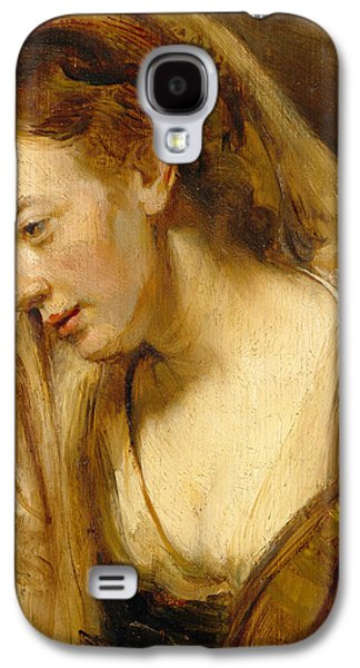 Sadness Paintings Galaxy S4 Cases - Detail of A Weeping Woman Galaxy S4 Case by Rembrandt