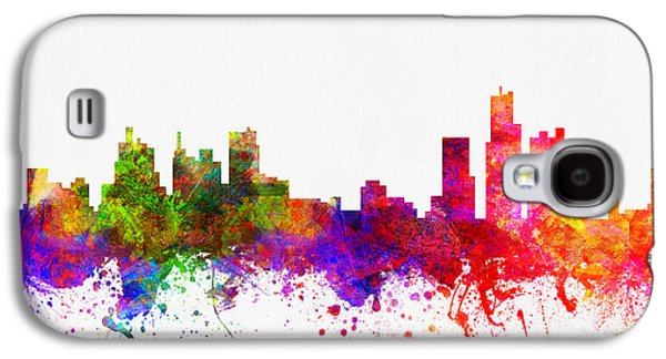 Detroit Digital Galaxy S4 Cases - Detroit Michigan skyline Color02 Galaxy S4 Case by Aged Pixel