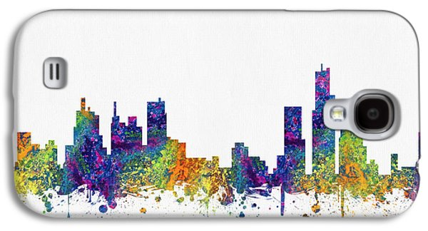 Detroit Digital Galaxy S4 Cases - Detroit Michigan skyline color03 Galaxy S4 Case by Aged Pixel
