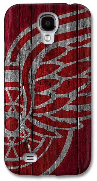 Detroit Red Wings Wood Fence Galaxy S4 Case by Joe Hamilton