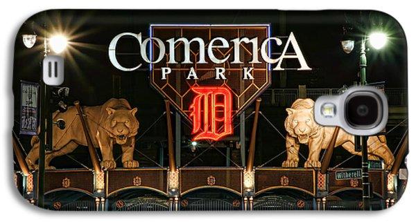 Bat Digital Art Galaxy S4 Cases - Detroit Tigers - Comerica Park Galaxy S4 Case by Gordon Dean II