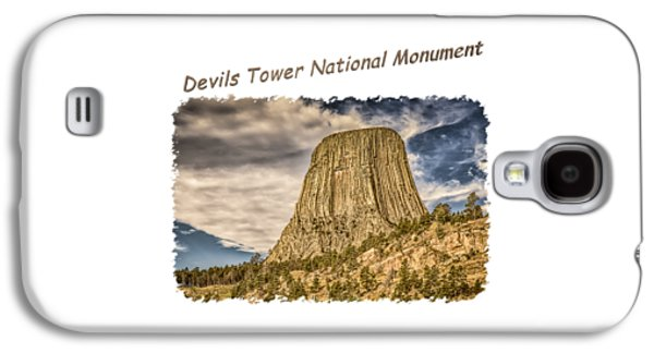 Recently Sold -  - Abstract Digital Photographs Galaxy S4 Cases - Devils Tower Inspiration 2 Galaxy S4 Case by John Bailey
