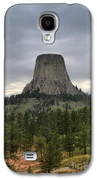 Autumn Landscape Ceramics Galaxy S4 Cases - Devils Tower Galaxy S4 Case by Nena Trapp