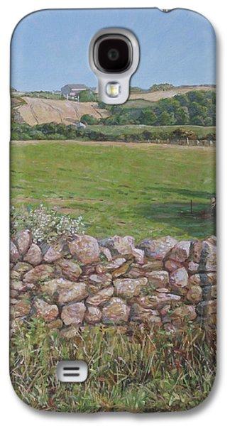 Devon Field And Drystone Wall Galaxy S4 Case by Martin Davey
