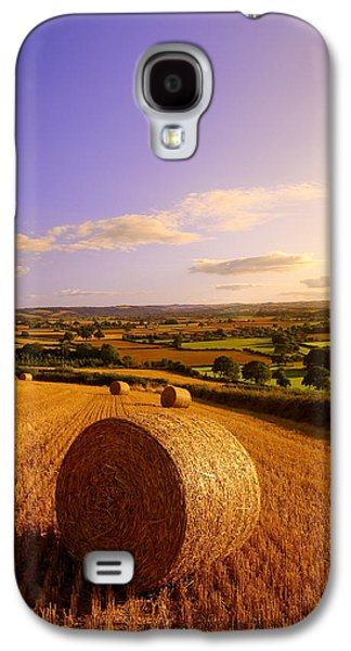 Haybale Photographs Galaxy S4 Cases - Devon Haybales Galaxy S4 Case by Neil Buchan-Grant