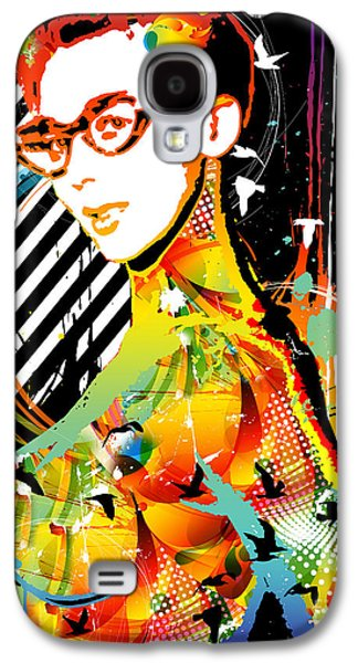 Abstract Digital Mixed Media Galaxy S4 Cases - Dexterous Dame Galaxy S4 Case by Chris Andruskiewicz