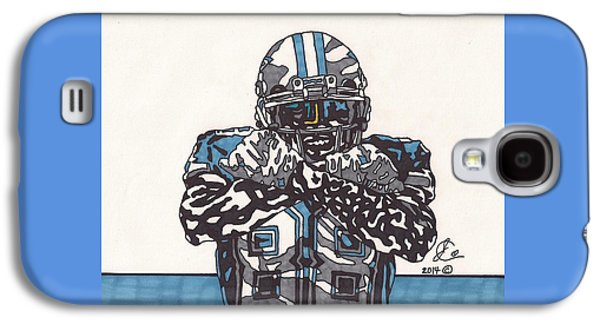 Bryant Drawings Galaxy S4 Cases - Dez Bryant 1 Galaxy S4 Case by Jeremiah Colley