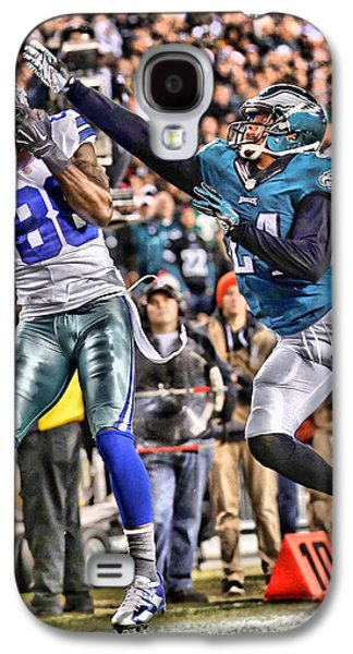 Dez Bryant Cowboys Art 5 Galaxy S4 Case by Joe Hamilton