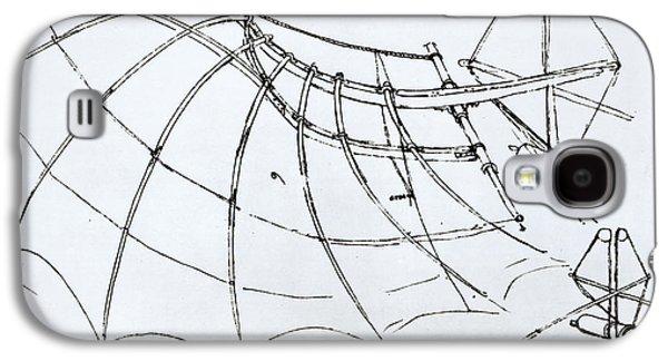 Diagram Of A Mechanical Wing Galaxy S4 Case by Leonardo Da Vinci