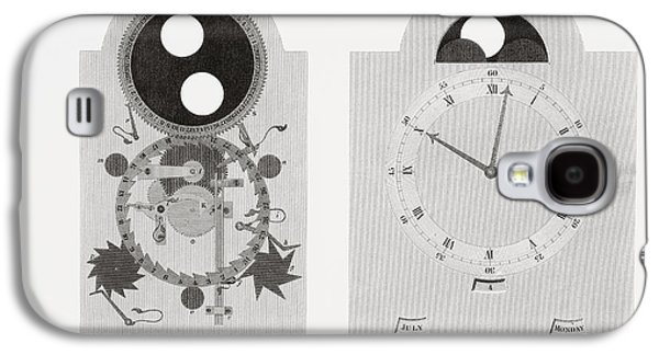 Dial Work Of A Clock Showing Moon S Galaxy S4 Case by Vintage Design Pics